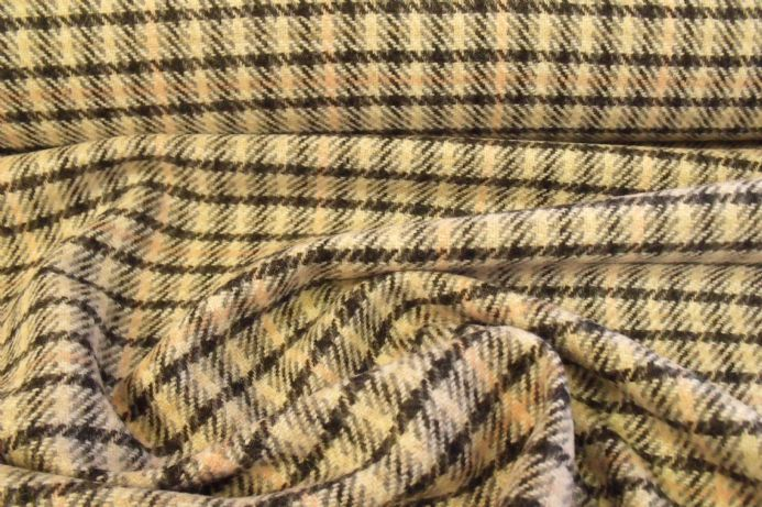 100% Pure Wool Tweed Check Design AC04